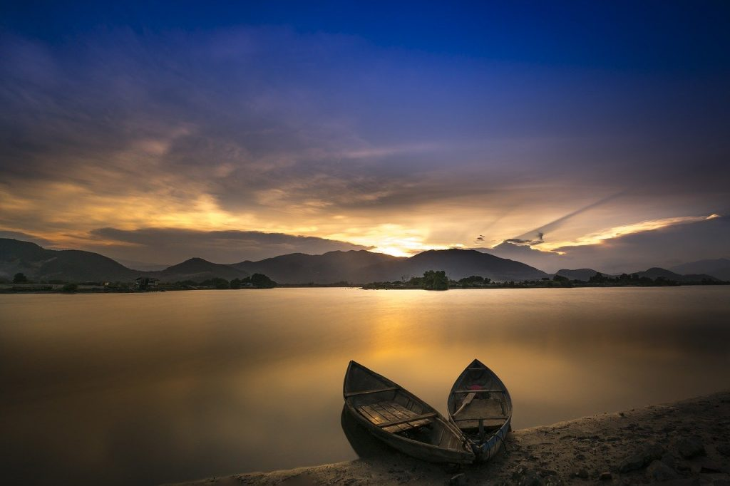 boats, sea, coast
