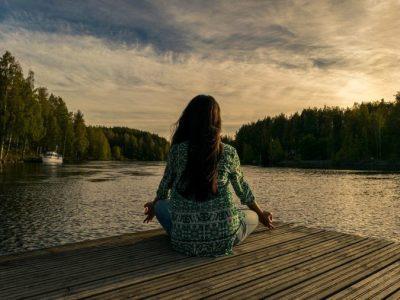 yoga, outdoor, woman
